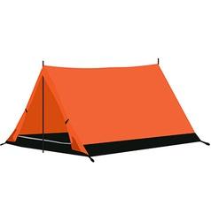 Camping tent orange vector image