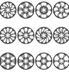 Car alloy wheels vector image