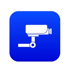 cctv camera icon digital blue vector image