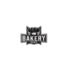 chef hat bakery logo vector image