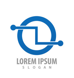 circle circuit logo concept design symbol graphic vector image