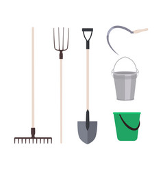 Collection garden tools or agricultural vector