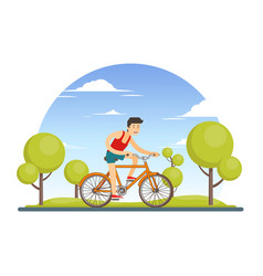 Colorful healthy sport lifestyle concept vector