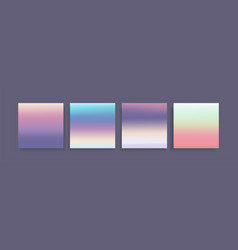 colorful holographic style gradients textures set vector image
