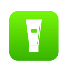 cosmetic tube of cream or gel icon digital green vector image