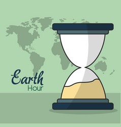 Earth hour design vector