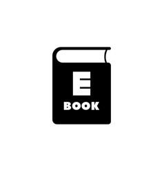 ebook flat icon vector image