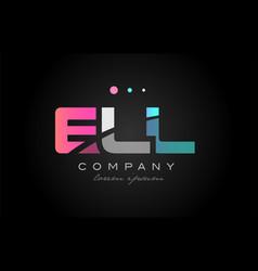 ell e l l three letter logo icon design vector image
