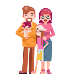 family concept cute happy young mother father vector image