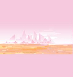 Fantastic planet surface landscape vector