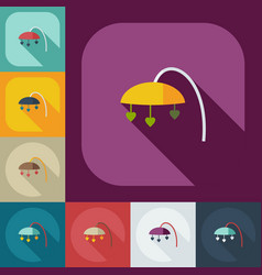 Flat modern design with shadow icons mobile vector