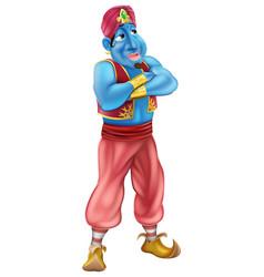 friendly jinn or genie standing vector image