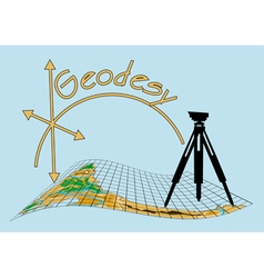 geodesy vector image