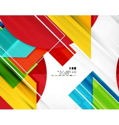 Geometric shape abstract business template vector