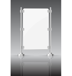 Glass screen with metal racks vector image