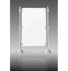 Glass screen with metal racks vector