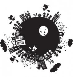 halloween planet vector image