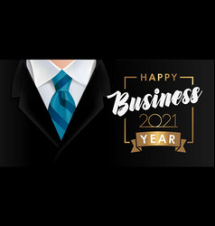 happy business year 2021 background vector image