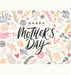 Hhappy mothers day - greeting card design vector