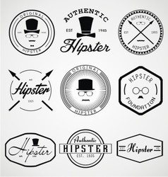 Hipster Badges Labels vector