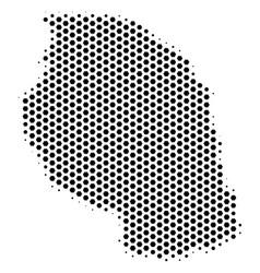 Honeycomb tanzania map vector