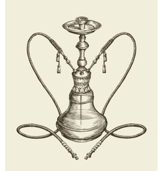 Hookah tobacco smoking vector