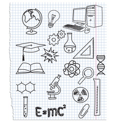 Icons a science vector