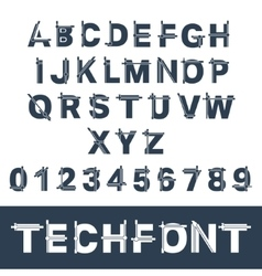 Incomplete glitch font vector image vector image