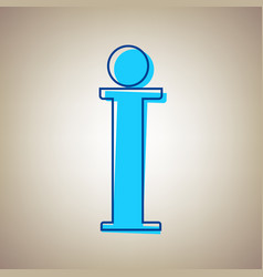 info sign sky blue icon with defected vector image
