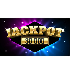 jackpot gambling casino money games banner vector image