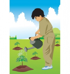 Kid hose plant vector