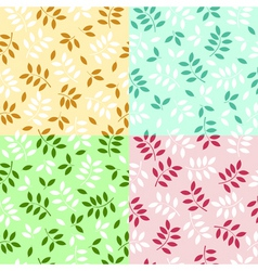 leaves backgrounds vector image