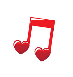 love music sounds in heart vector image