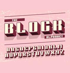 Modern professional 3d alphabet block vector