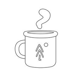 Mug and metal symbol set vector