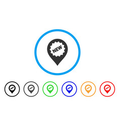 new marker rounded icon vector image