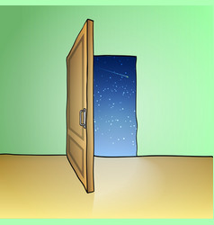 Opened door vector image