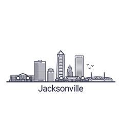 outline jacksonville banner vector image