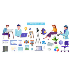 professional occupations flat vector image
