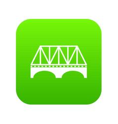 railway arch bridge icon green vector image