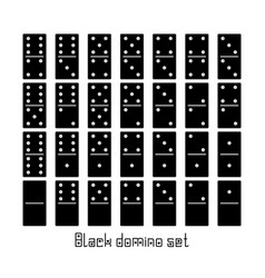 Realistic dominoes full set 28 flat pieces for vector