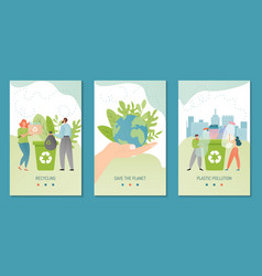 Recycling banner template vector