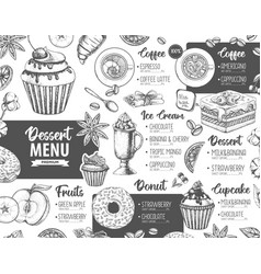 Restaurant dessert menu design vector