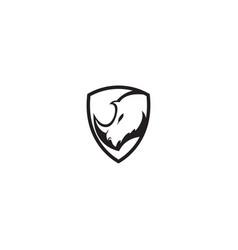 Rhino logo template shield vector
