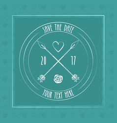 save the date card decoration invitation arrow vector image