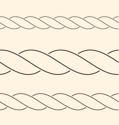 Seamless minimalist rope borders can be used as vector