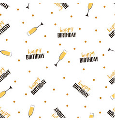 seampless birthday pattern vector image