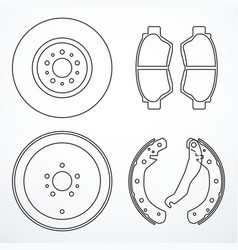 set of brake parts vector image