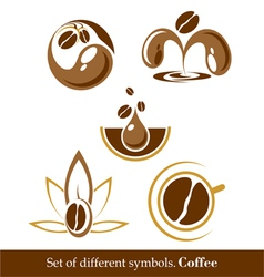 Set of signs and symbols of coffee vector