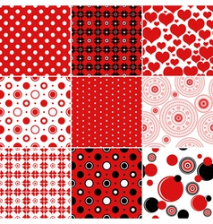 Set seamless vintage patterns vector image